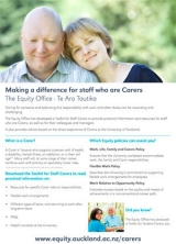 "Thumbnail of our ""Making a difference for staff who are Carers"" A2 poster"
