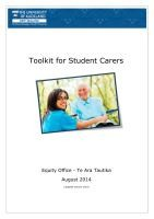 Thumbnail of our Toolkit for Student Carers