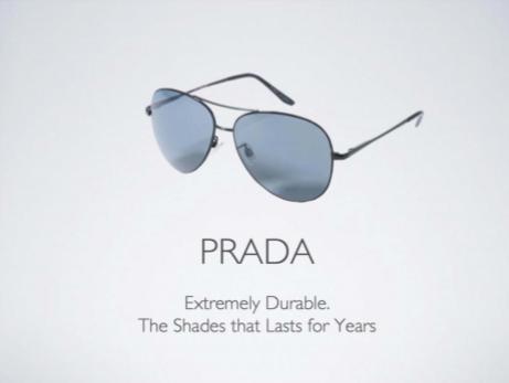 Luxury story Prada durable
