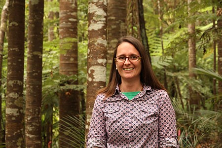 Dr Cate MacInnes in our forest