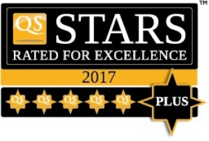 QS Stars - rated for excellence 2017 - 5 Plus logo