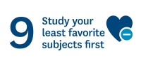 Study your least favourite subjects first