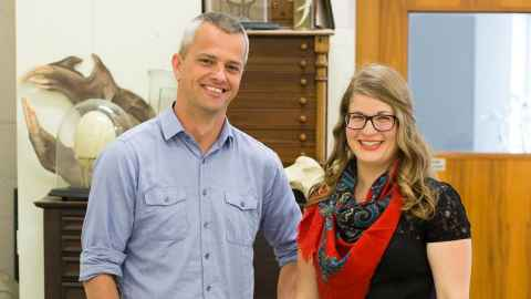 Rachael Sagar (PhD candidate) and Dr Brendon Dunphy.