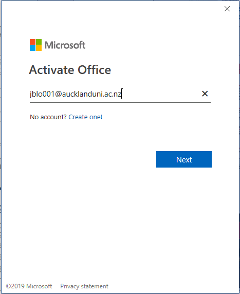 Signing in and out of Office 365